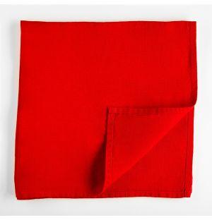 Serviette de table en lin rouge