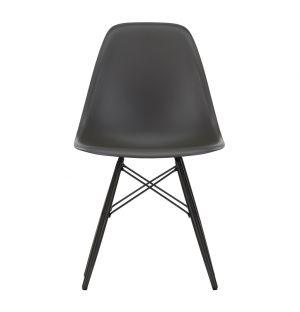 Chaise DSW basalte - piétement érable noir – Vitra