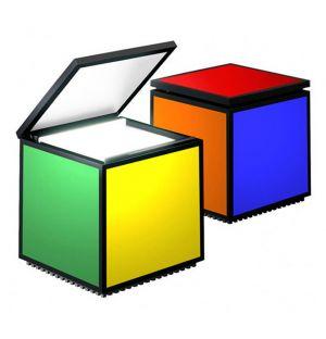 Lampe Cuboled pentacolore