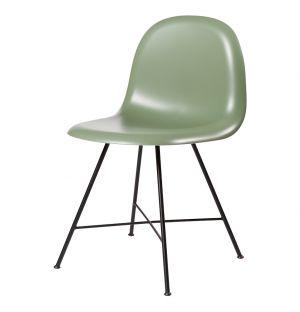 Chaise HiRek vert mistletoe/piétement noir - Gubi