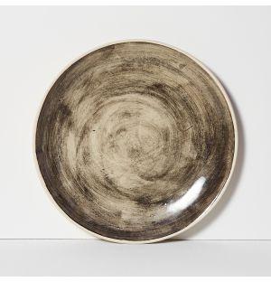 Assiette plate Organic Sand noire - 28 cm