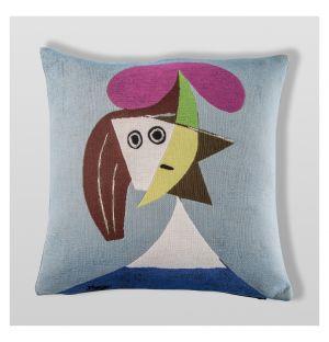 Housse de coussin Picasso - Femme au chapeau