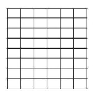 Etagère Krossing noir mat - 6 colonnes 8 tablettes - 200 x 200 cm