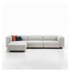 Canapé Soft Modular 3 places avec chaise longue - Vitra