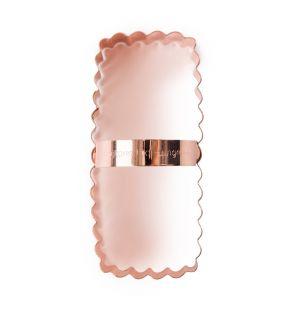 Emporte-pièce rectangle ondulé en cuivre