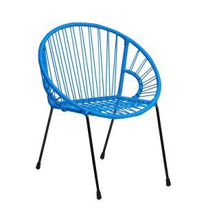 Chaise pour enfant Tica bleu marine