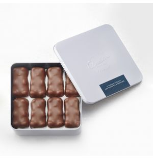 Boîte d'oursons en guimauve et chocolat au lait - 375 gr