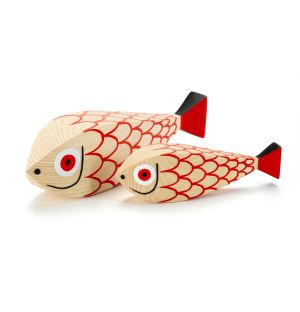 Figurine Wooden Doll Mother Fish & Child - Vitra