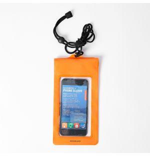 Pochette de téléphone imperméable orange