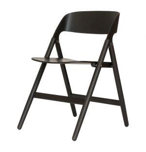 Chaise pliante Narin noire