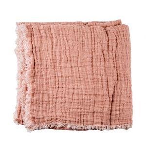 Plaid en lin gaufré nude - 160 x 210 cm