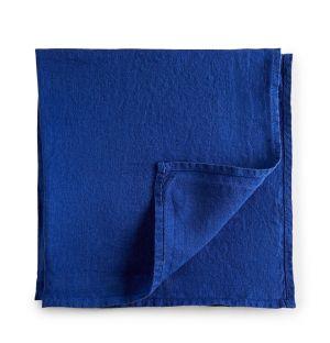 Serviette de table en lin bleu royal