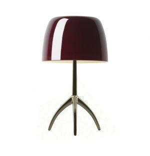 Lampe de table Lumière Piccola avec variateur cerise & champagne