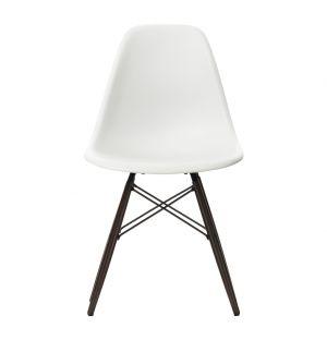 Chaise DSW blanche & piétement érable foncé - Vitra