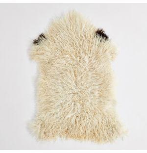 Tapis en peau de mouton autrichien ivoire