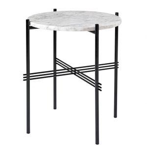 Table d'appoint TS plateau marbre ou verre diam 40 cm - Gubi