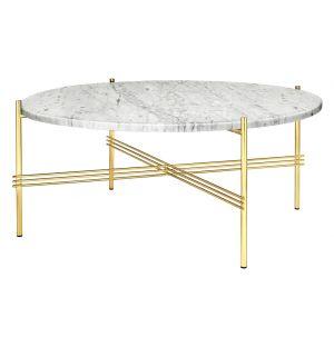 Table basse The Standard - piètement laiton - 80 cm