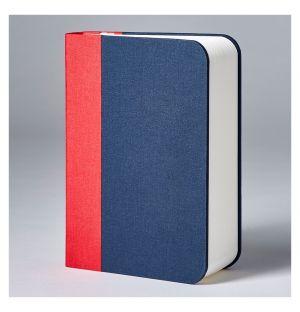 Lampe-Livre Lumio couverture en tissu Buckram rouge/marine