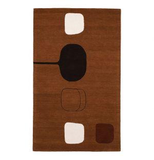 Tapis Permutation Brown par William Scott 140 x 230 cm