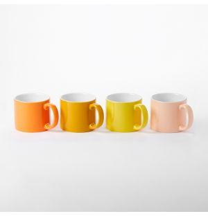 Set 4 tasses My Mugs coloris orangé