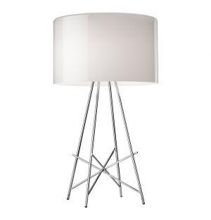 Lampe de table Ray T acier chromé & verre - Flos