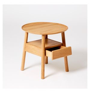 Table de chevet en chêne Secret