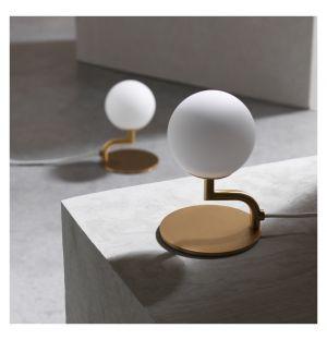 Lampe de table Mobil laiton/verre opalin