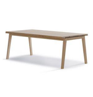 Table Extensible SH900 Chêne Savonné & Rallonges Noires