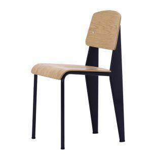 Chaise Standard - assise et dossier chêne - piétement noir - Vitra