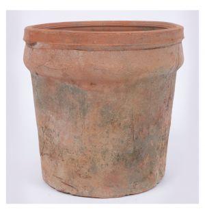 Cache-pot cylindrique Nature terre cuite  - grand modèle
