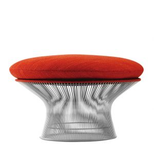 Ottoman Easy Chair Platner tissu Rivington - nickel poli - Knoll