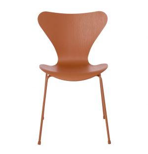 Chaise Série 7 - modèle 3107 - frêne orange chevalier - Fritz Hansen