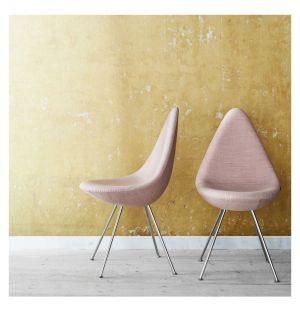 Chaise Drop tissu Canvas - piètement chromé