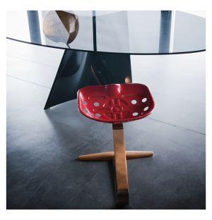 Tabouret Mezzadro rouge - Zanotta