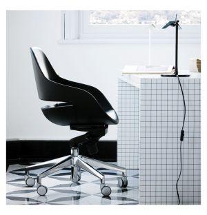 Chaise de bureau Eva - aluminium et cuir Pelle Nappa