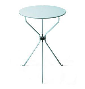 Table d'appoint pliante Cumano acier bleu poudré - Zanotta