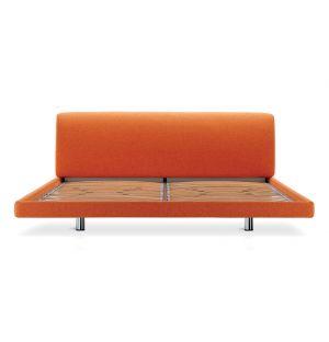 Lit Greg King Size 166cm - tissu Tecla orange