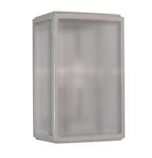 Applique d'extérieur Homefield Sensor 7857 nickel poli/verre dépoli