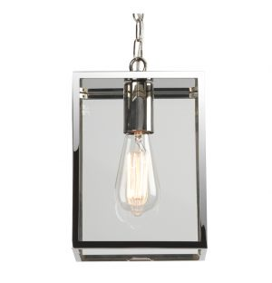 Suspension extérieure Homefield 240 7908 - nickel poli et verre transparent