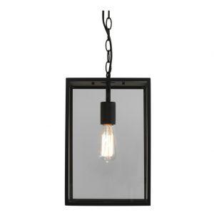 Suspension extérieure Homefield 360 7814 - noir et verre transparent