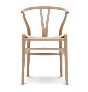 Chaise Wishbone CH24 hêtre naturel huilé et corde naturelle