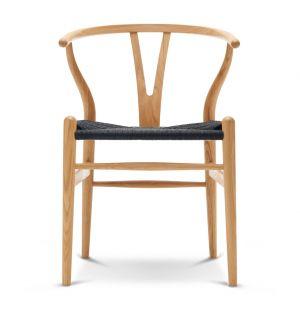 Chaise Wishbone CH24 chêne huilé et corde noire