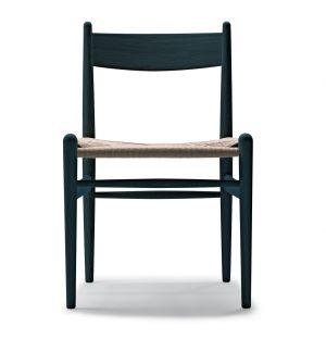 Chaise CH36 en chêne noir et corde naturelle