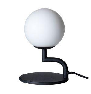 Lampe de table Mobil noire/verre opalin