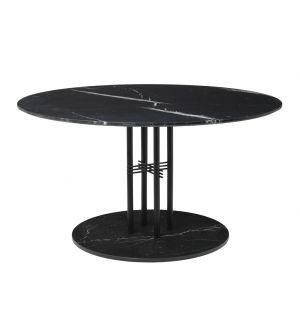 Table TS Column - plateau en marbre 130 - base en marbre Marquina noir - Gubi