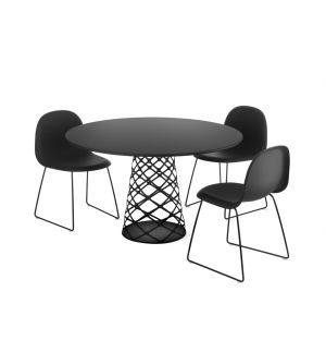 Table haute Aoyama noire - Gubi