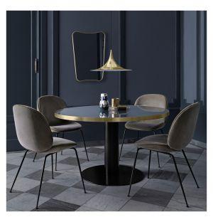 Table haute 2.0 verre - piétement noir - diam 110 cm