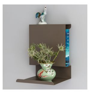Étagère murale Ledge:able Coloris brun-gris