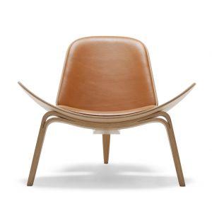 Chaise CH07 Chêne huilé et cuir