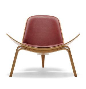 Chaise CH07 chêne huilé et cuir Thor - Carl Hansen